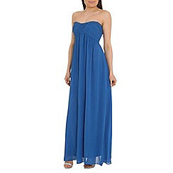 Alice & You - Bright blue ruched bandeau maxi dress