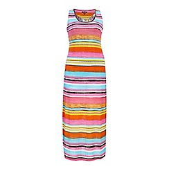 Samya - Blue strap multi stripe maxi dress