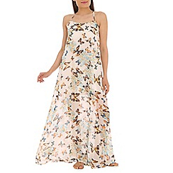 Madam Rage - White butterfly maxi
