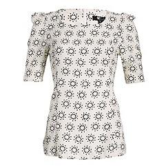 Cutie - White star print blouse
