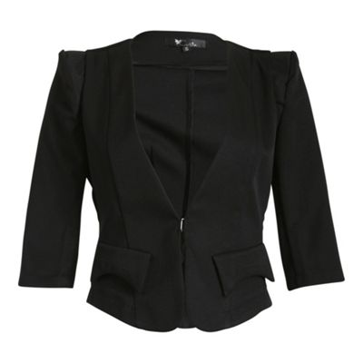 Cutie Black 3/4 sleeve jacket - . -