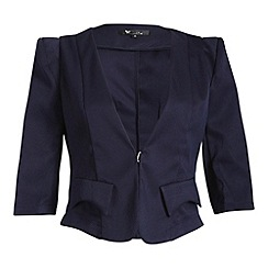 Cutie - Navy 3/4 sleeve jacket
