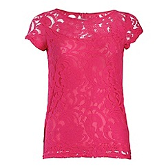 Alice & You - Pink lace layer tee