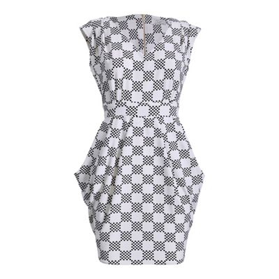 Black closet square print tie back dress - . -
