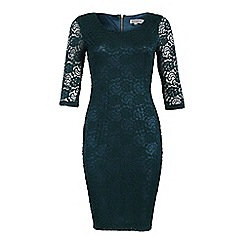 Alice & You - Dark green lace layer midi dress