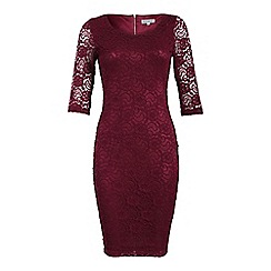 Alice & You - Maroon lace layer midi dress