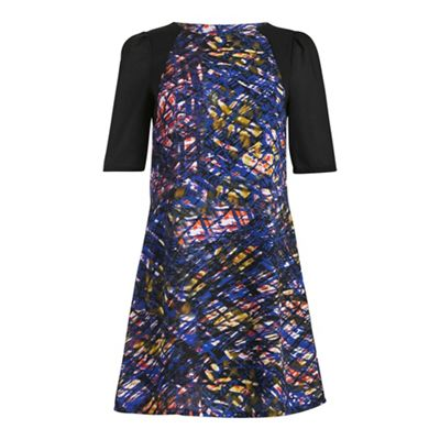 Cutie Black abstract print dress - . -