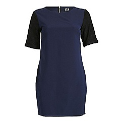 Poppy Lux - Navy francine combo tunic with lace sleeves