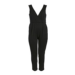 Threads - Black wrap over jumpsuit