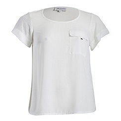 Threads - Ivory turn up tee with pocket