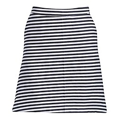 Madam Rage - Navy stripe skirt