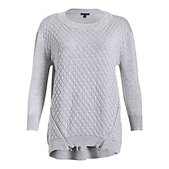 Mandi - Grey knitted detailed sweater top