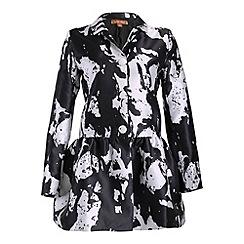Jolie Moi - White brushstroke print fit and flare jacket