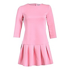 Alice & You - Pink long sleeve drop waist dress