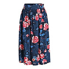 Ruby Rocks - Navy full midi skirt