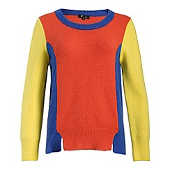 Cutie - Red colour block sweater
