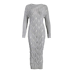 Cutie - Grey textured knit dress