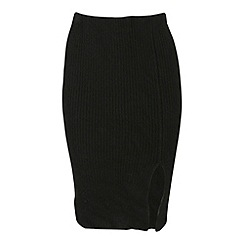 Cutie - Black knee length pencil skirt
