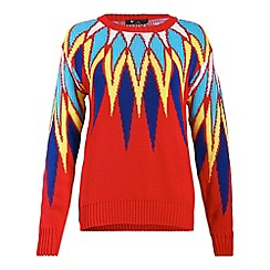 Cutie - Red multicolour sweater