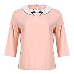 Sugarhill Boutique - Peach topcat blouse