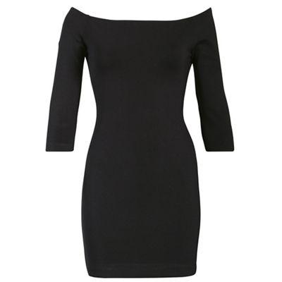 Alice & You Black bardot bodycon dress - . -