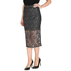 Jumpo London - Silver lace pencil skirt