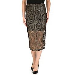 Jumpo London - Gold lace pencil skirt