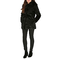 Jumpo London - Black faux fur hooded coat