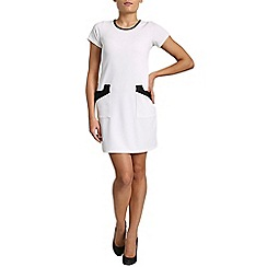 Pussycat London - White bodycon short sleeve dress