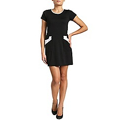 Pussycat London - Black bodycon short sleeve dress
