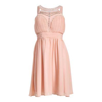 Chase 7 Multicoloured sleeveless front jeweled maxi dress - . -