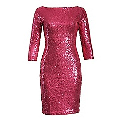 Alice & You - Pink sleeved sequin dress