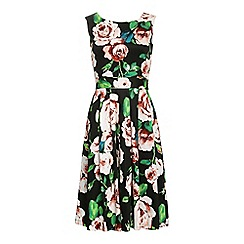 Jolie Moi - Multicoloured floral print 50's  prom dress