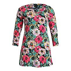 Samya - Multicoloured 3/4 sleeve floral skater dress