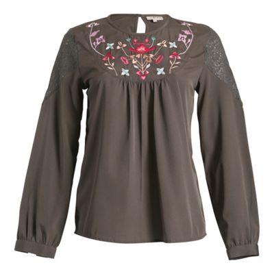 Anmol Grey long sleeve top - . -