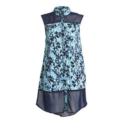 Anmol Blue sleevless long shirt - . -