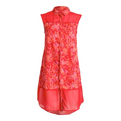 Anmol Red sleevless long shirt - . -