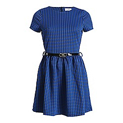 Madam Rage - Blue dogtooth swing dress