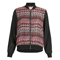Madam Rage - Pink printed bomber jacket