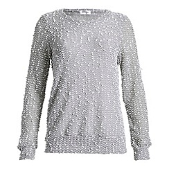 Madam Rage - Grey popcorn knit jumper