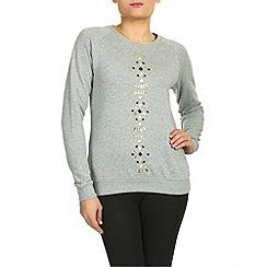 Sugarhill Boutique - Grey jewel sweater