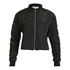 Madam Rage - Black ruffle bomber jacket