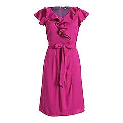 Ayarisa - Dark pink finola ruffle wrap dress
