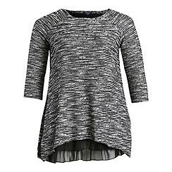 Samya - Black long sleeve ribbed tunic top