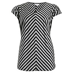 Threads - Grey split sleeve chevron tee