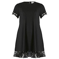 Threads - Black sequin panel swing dress