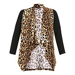 Samya - Multicoloured long sleeve animal print cardigan