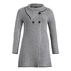 Samya - Grey long sleeve button detailed jacket