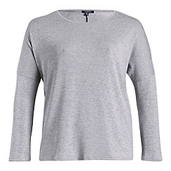 Samya - Grey 3/4 sleeve knitted pullover