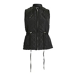 Izabel London - Black sleeveless puffer zipped vest